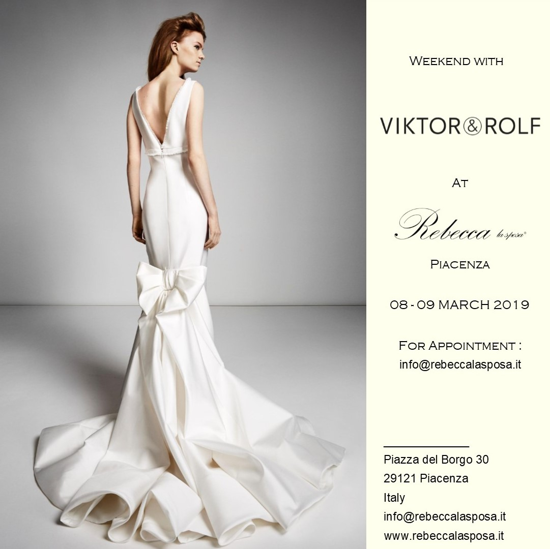 Rebecca la sposa - Viktor & Rolf 03/19