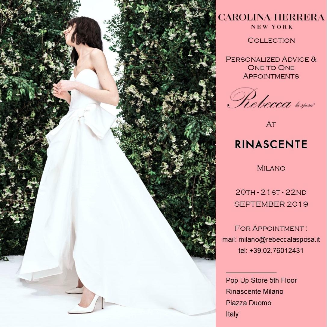 Rebecca la sposa - Carolina Herrera 20-21-22 Settembre 2019
