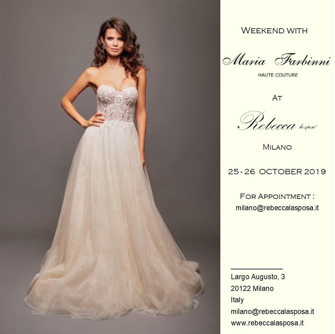 Rebecca la sposa - Maria Farbinni 25-26 Ottobre 2019