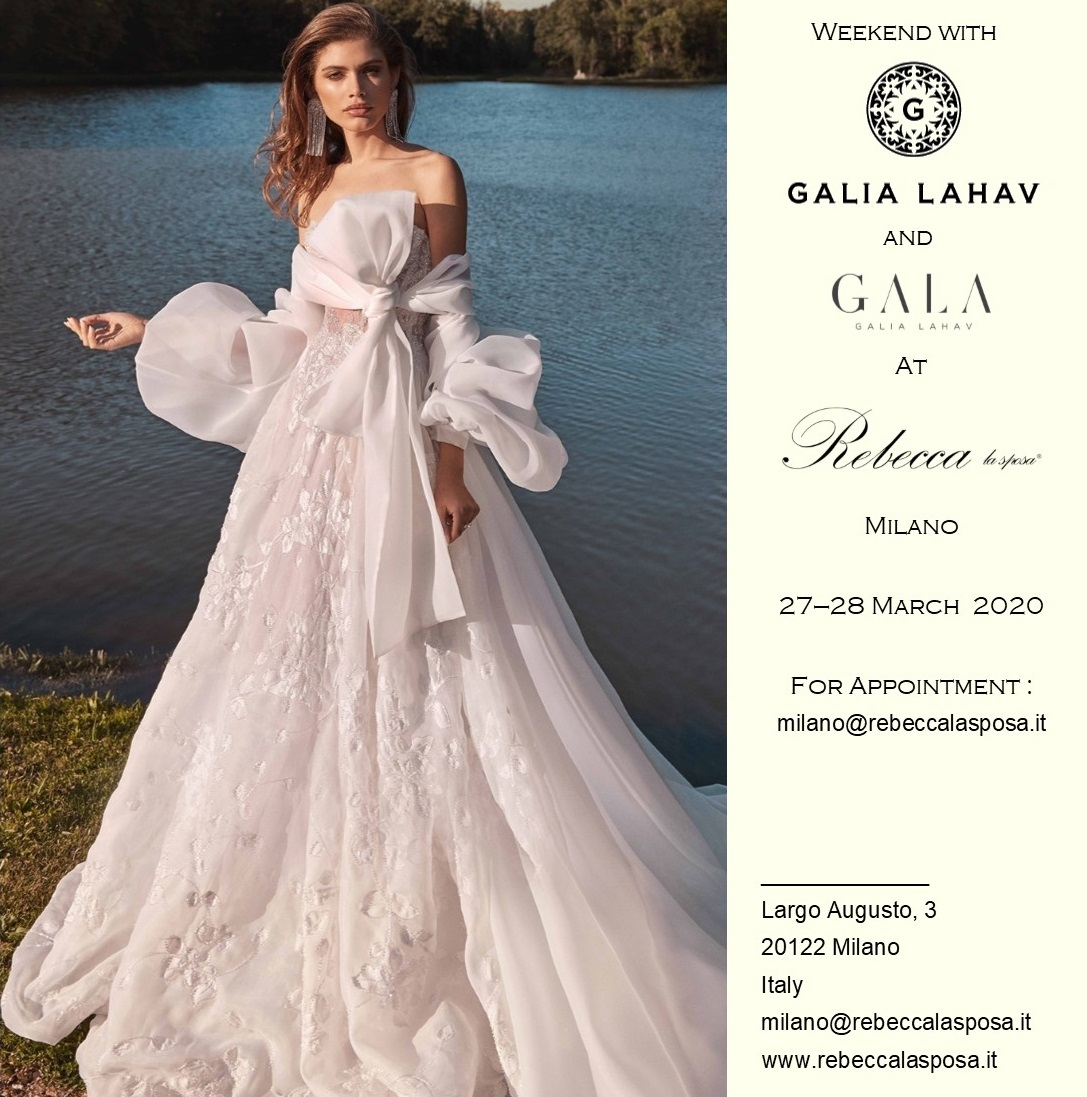 Rebecca la sposa - Galia Lahav Marzo 2020