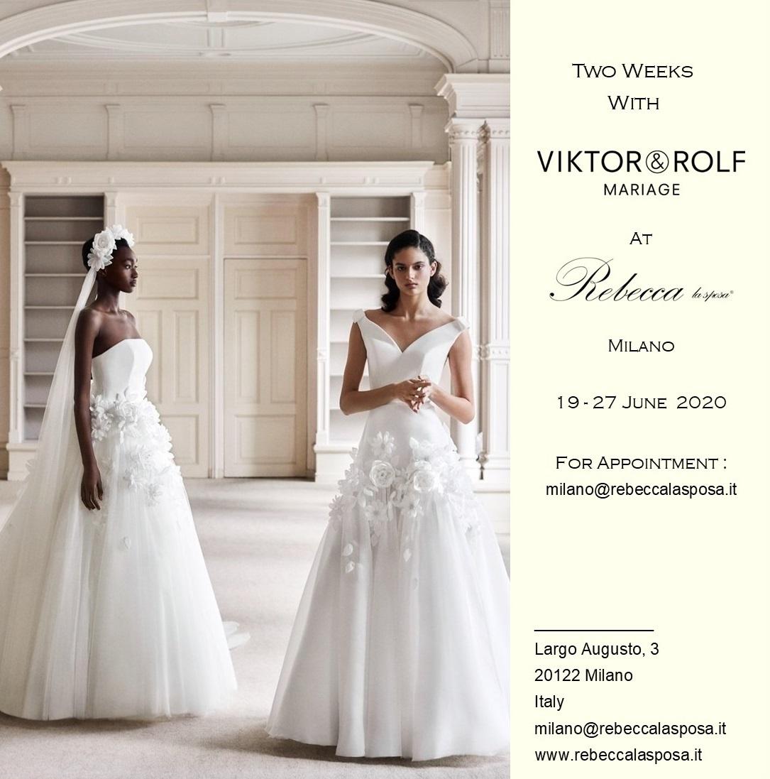 Rebecca la sposa - Viktor & Rolf Giugno 2020
